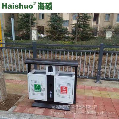 厂家直营户外分类垃圾箱 镀锌板果皮箱 环卫垃圾桶