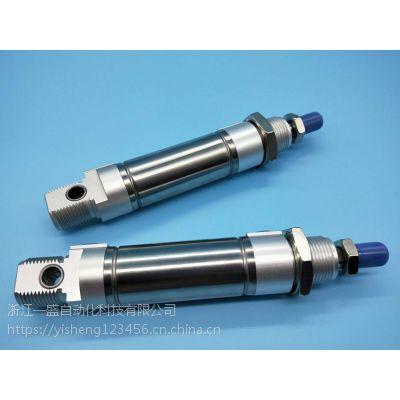 浙江一盛 DSNU20-50-P-V轻型不锈钢迷你气缸带缓冲DSNU20-70-P-V