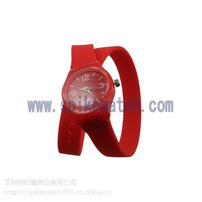 SPIKE手表厂家供应池早早同款欺沃琪长表带塑胶石英礼品手表
