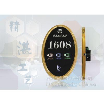 LED创意电子门牌 椭圆形高端酒店电子门显 厂家直销钢化玻璃门牌