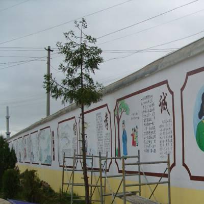 幼儿园国学壁画传统文化宣传壁画和退避三舍故事