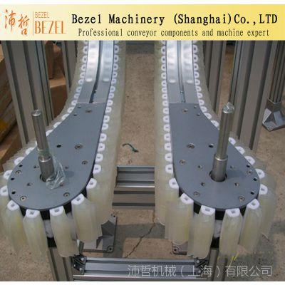 Bezel专业生产柔性夹瓶提升链 柔性小型夹瓶转弯机 链板输送机厂