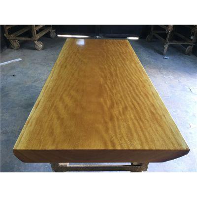 厂家直销实木大板桌175长75宽 非洲黄花梨奥坎鸡翅木原木大板茶桌简约现代