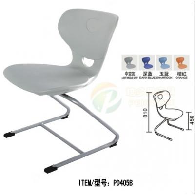 出口中空学生椅 中小学生课桌椅 PP塑料椅 培训椅 阅览室椅子