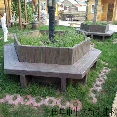 厂家直销景观工程水泥仿木桌椅 仿木树围凳靠背椅 长廊水泥仿古六角亭子