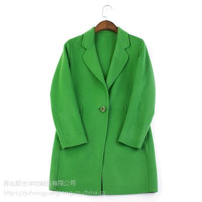 """供应""""纯羊毛""""女士单双面呢子大衣"""