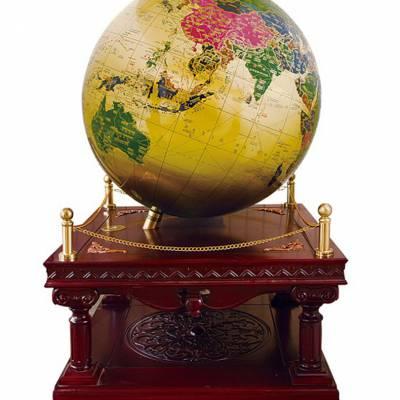 直径1米纯铜高档地球仪,会议室地球仪摆件,办公室落地装饰品,纯铜地球仪定制厂家