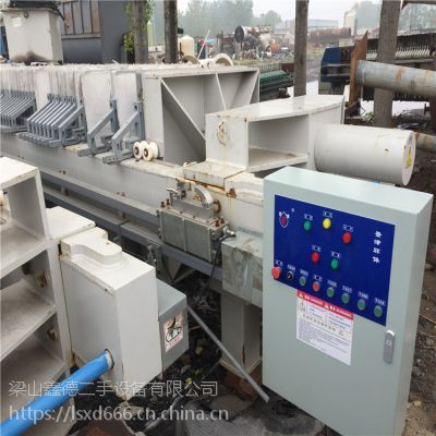 南京今年二手压滤机二手360平方板框式自动程控压滤机出售价格多少