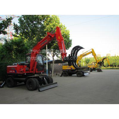 河南轮胎抓木机总经销 皮轮抓树机 加高加长 挖掘装载机直销