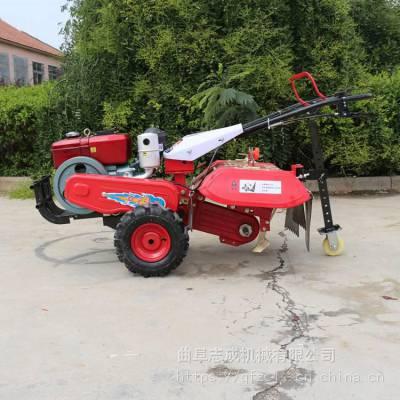 志成多功能除草松土机 坡地平原耕地机 7.5马力的手扶式微耕机