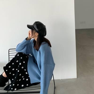 厂家直销尾货2018女式冬装厚款毛衣 女装针织衫上装套头打底毛衣