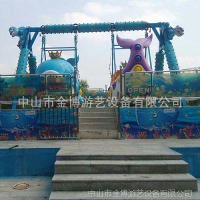 金博双排海盗船 大型游乐设备海底旋风厂家
