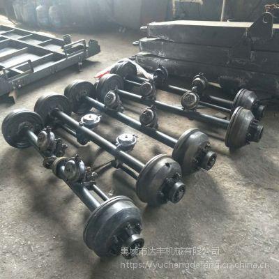 达丰机械厂家生产农用拖车车轴 农用运输车车桥 拖斗挂车后轴 支持各种型号规格定制