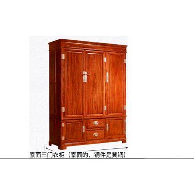 红木家具刺猬紫檀卧室三门顶箱衣名琢世家厂家直销