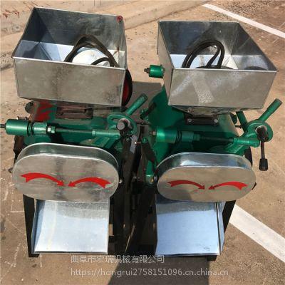 新型玉米粉碎机价格 十堰酿酒用高粱对辊粉碎机宏瑞规格