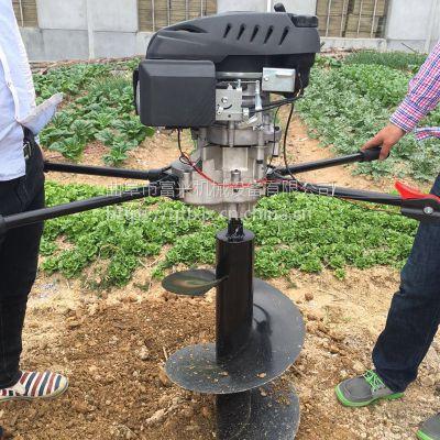 大马力地钻挖坑机 手提式小型打坑机 新型拖拉机带挖坑机图片