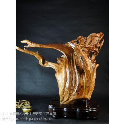 木檀世家崖柏陈化老红料根雕工艺品摆件常青树工艺品木雕件