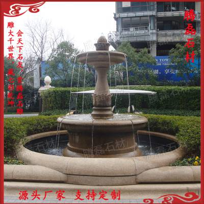 惠安专业厂家加工定制 大型水景喷泉 别墅户外欧式喷泉水钵