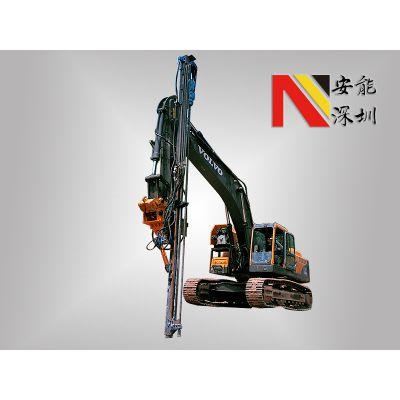 安能钻凿WG-90C挖机改液压凿岩机孔径45-152mm技术领先的挖改钻机