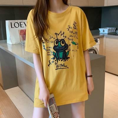 2019便宜女士短袖T恤韩版几元地摊货批发纯棉T恤库存服装清货2元清货