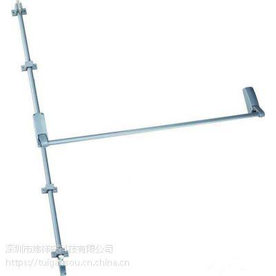 供应铁铝烤漆下压式逃生门锁3100 高端出口欧美下压式执手锁