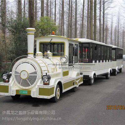 2019厂家直销新型室外景观代步无轨小火车龙之盈游乐