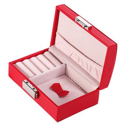 高档首饰盒欧式印花蝴蝶带锁复古耳环戒指首饰收纳盒珠宝首饰盒