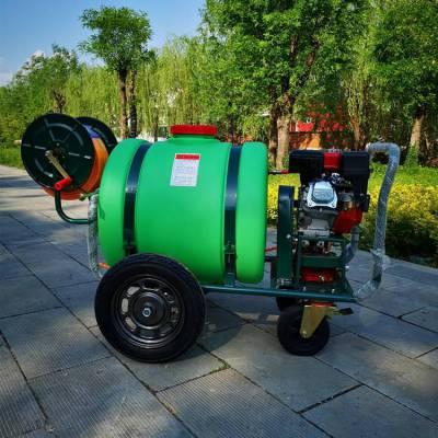 160升小型高压清洗机 志成促销玉米作物打药机 拉管式四轮消毒机
