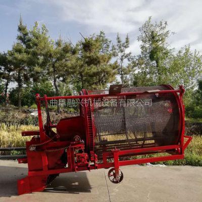 起挖蕨麻的机器设备 四轮拖式人参果收获机 滚动筛颗粒形药材采挖机推荐厂家