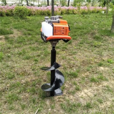 热卖款二冲程挖坑机 单人操作使用地钻 种树打眼机植保机