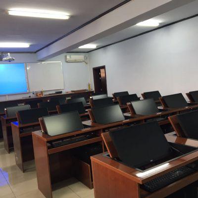 厂家直销 多媒体教室电脑桌液晶屏翻转器会议培训手动翻转电脑桌