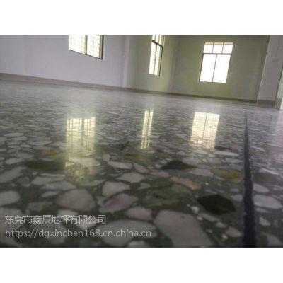 广州花都水磨石晶面处理【番禺】旧地坪翻新--水磨石固化地坪施工