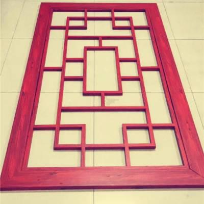 山东学校仿古建筑装饰铁红色铝窗花