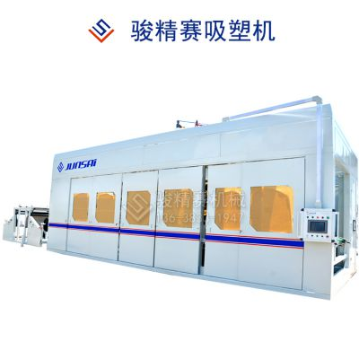 XPE汽车通风管道成型设备 汽车风管自动吸塑成型机 四川设备生产厂电话
