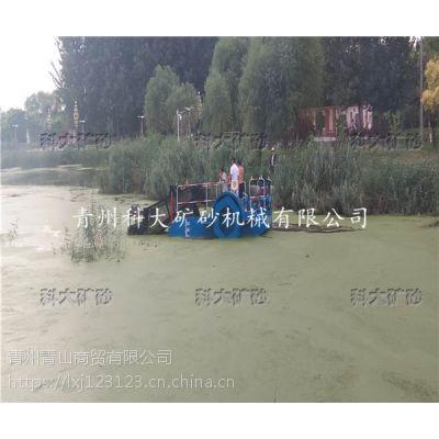 打捞水面漂浮垃圾水浮萍、小型水面捞草机