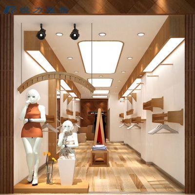 服装店展示道具展示架男女装店木质烤漆货架定制
