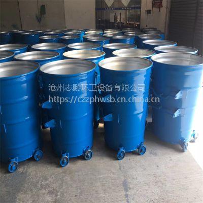 300升移动垃圾桶 可挂车 带盖子垃圾桶生产厂家