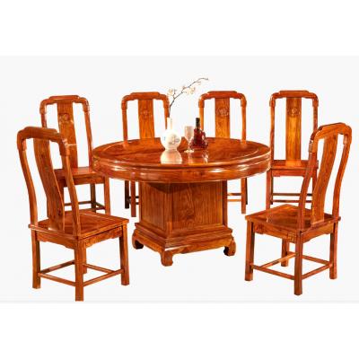 中山餐厅配套红木家具刺猬紫檀餐桌价格图片大全