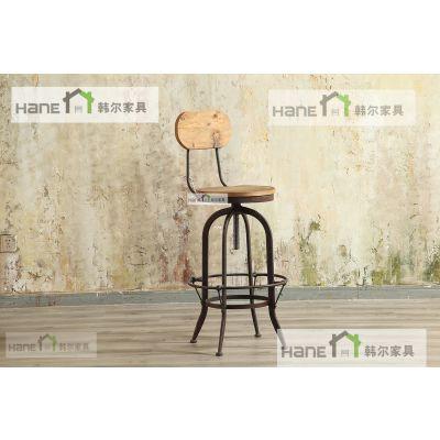 复古工业风酒吧餐厅桌椅定做生产厂家 上海韩尔