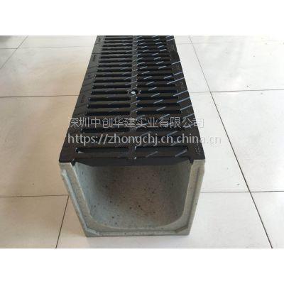 广东深圳中创成品不锈钢缝隙式线性排水沟 树脂混凝土排水沟 规格定制厂家直销