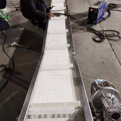 食品塑料网带输送机-不锈钢输送机械设备厂家乾德