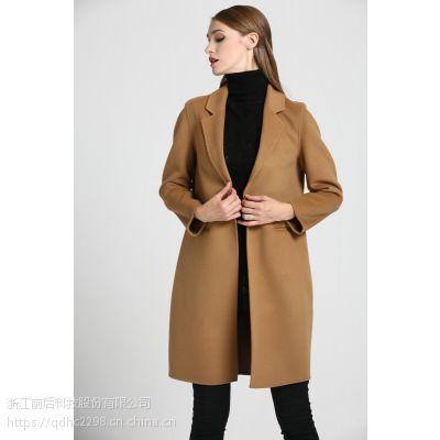 秋冬装新款韩版双面绒羊毛呢大衣女外套中长款呢子大衣
