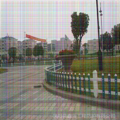 安徽阜阳临泉塑钢院墙护栏厂家 pvc塑钢护栏 草坪护栏批发