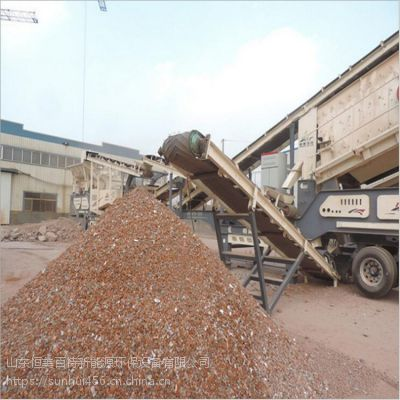 甘肃移动式颚式破碎机 石料生产线移动破碎站 可分期