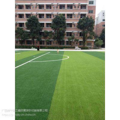 南宁厂家供应足球场运动人工草幼儿园休闲人造草坪铺设
