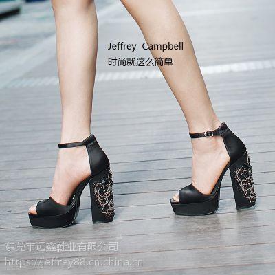 美国Jeffrey Campbell夏季新款时尚女鞋 个性随性搭配美炸天
