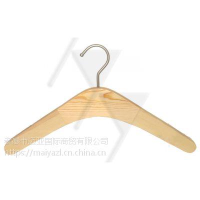 迈亚国际女士榉木高档豪华大衣架 实木西装宽肩 批发
