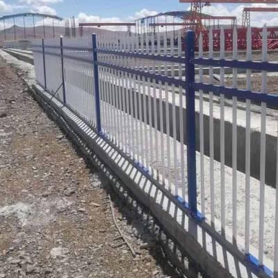 深圳贵族学校专用护栏是什么材质?梅州污水处理厂防锈包塑围栏价格
