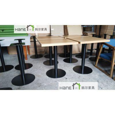 简约咖啡厅实木圆桌 西餐厅实木方桌咖啡厅桌子定做 上海韩尔工厂