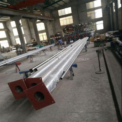供应幼儿园 学校不锈钢国旗杆 9米锥形旗杆 内置手摇旗帜杆